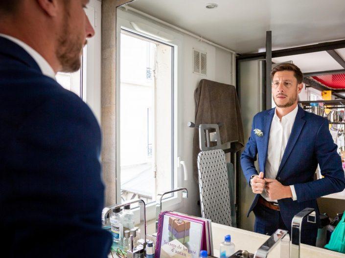 photographe mariage paris haut de gamme chic préparatifs marié