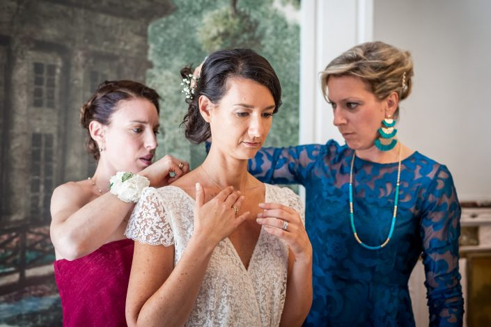 photographe mariage bourgogne paris préparatifs robe de mariée
