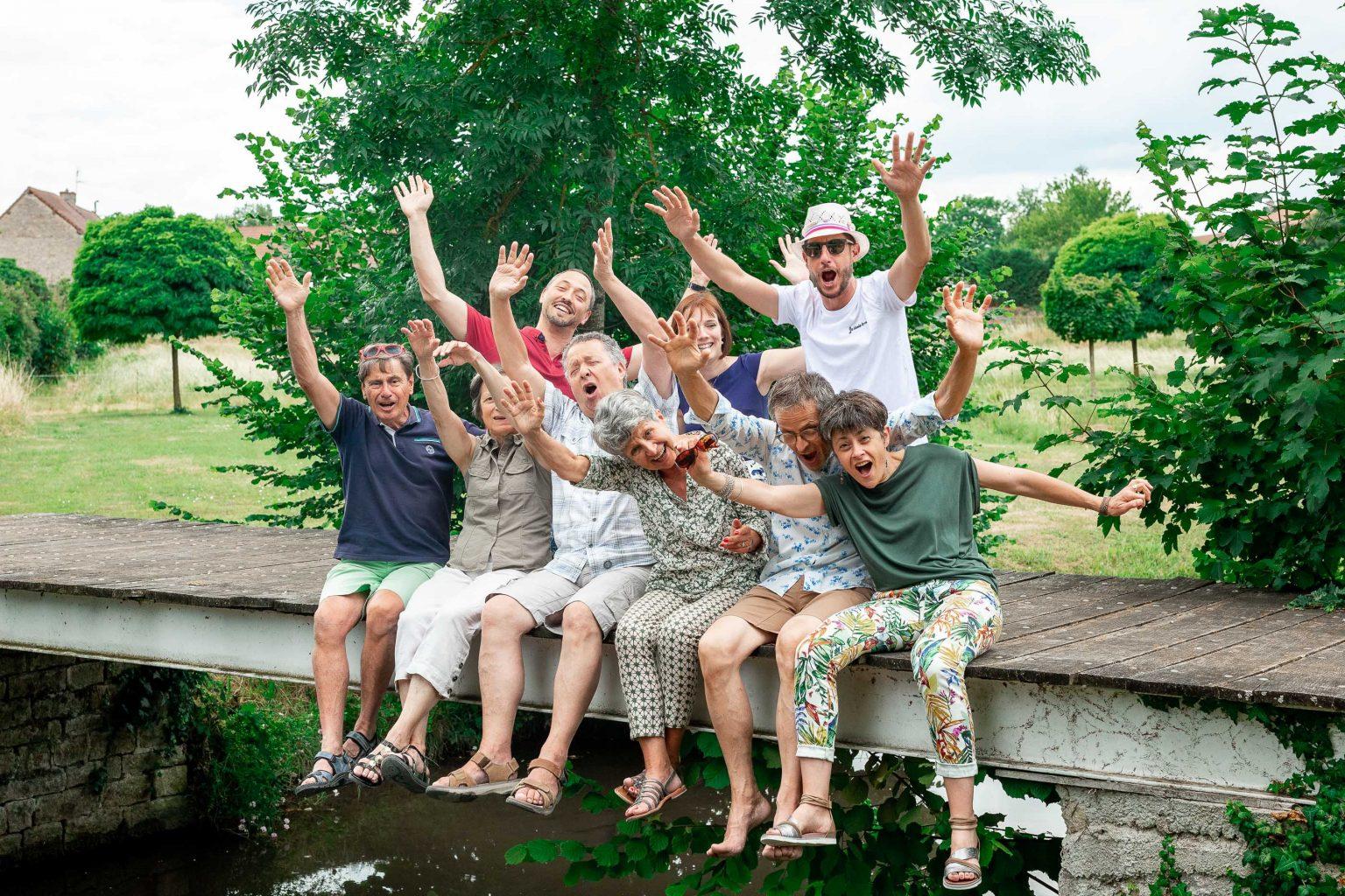 photographe mariage paris bourgogne photo de groupe