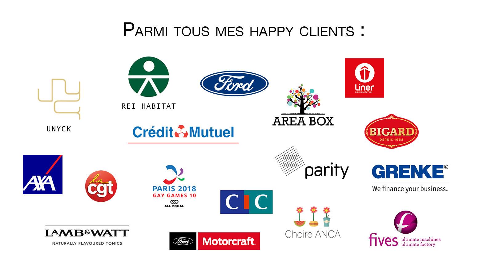 Bannière logo clients entreprise
